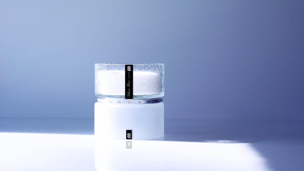 Bi150 Pure / frozen & Cracked - Bi150 - Size : 150mm / Wax Weight : 3kg / Burning Hours : 300